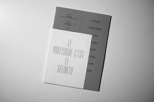 Le Provisoire, c'est le Definitif – Cover